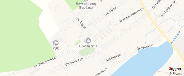 Улица Труда на карте села Тюбука с номерами домов