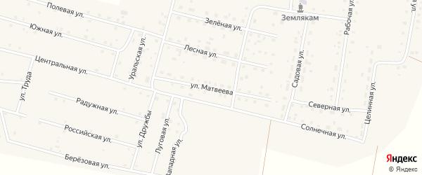 Улица им П.И.Матвеева на карте деревни Камышевки с номерами домов
