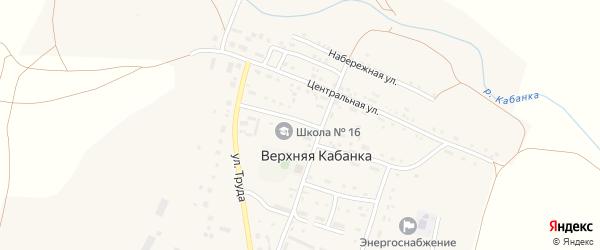 Школьная улица на карте села Верхней Кабанки с номерами домов