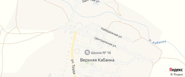 Тупиковая улица на карте села Верхней Кабанки с номерами домов
