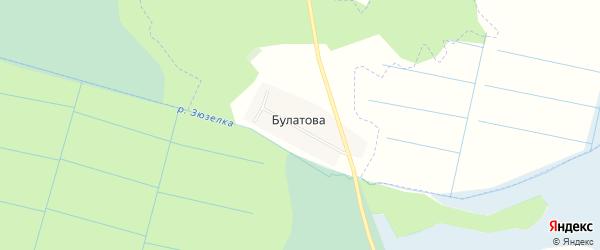 Карта деревни Булатова в Челябинской области с улицами и номерами домов