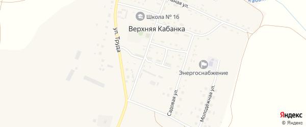 Улица Ветеранов на карте села Верхней Кабанки с номерами домов