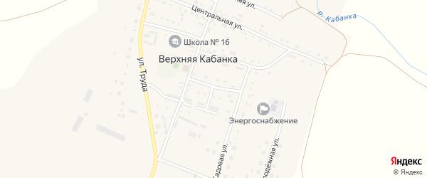 Библиотечная улица на карте села Верхней Кабанки с номерами домов