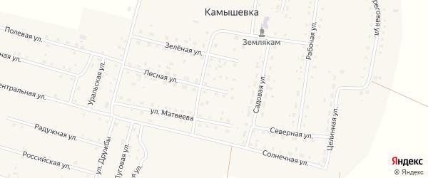Молодежная улица на карте деревни Камышевки с номерами домов