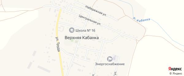 Рабочая улица на карте села Верхней Кабанки с номерами домов