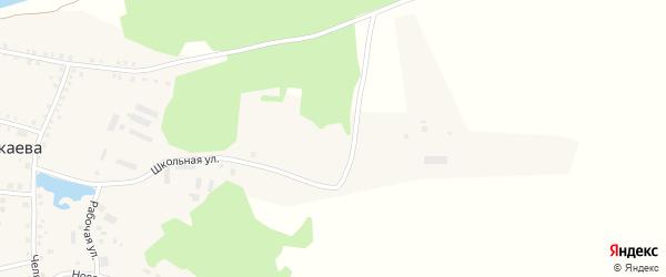 Школьный переулок на карте деревни Бажикаева с номерами домов