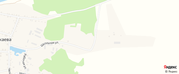 Молодежная улица на карте деревни Бажикаева с номерами домов