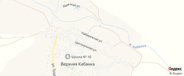 Набережная улица на карте села Верхней Кабанки с номерами домов