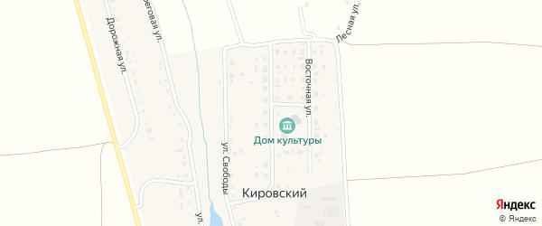 Центральная улица на карте Кировского поселка с номерами домов