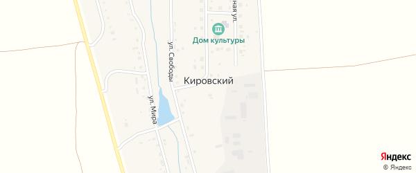 Заречная улица на карте Кировского поселка с номерами домов