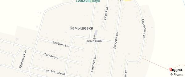 Садовая улица на карте деревни Камышевки с номерами домов