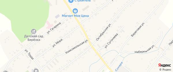 Революционная улица на карте села Тюбука с номерами домов