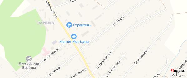 Улица Мира на карте села Тюбука с номерами домов