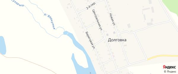 Береговая улица на карте села Долговки с номерами домов