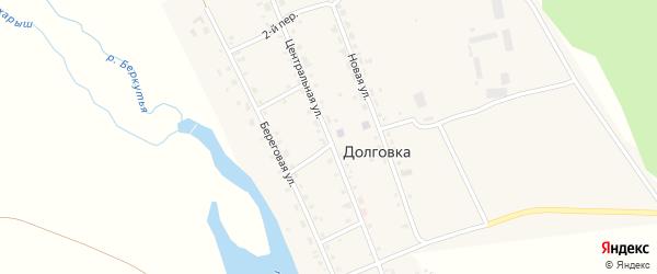 Центральная улица на карте села Долговки с номерами домов