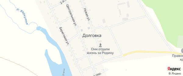 1-й переулок на карте села Долговки с номерами домов