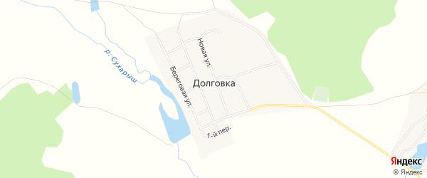 Карта села Долговки в Челябинской области с улицами и номерами домов