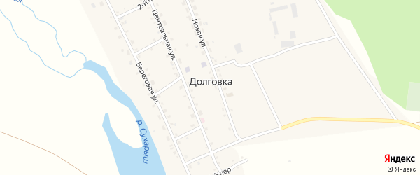 2-й переулок на карте села Долговки с номерами домов