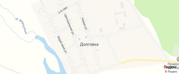Новая улица на карте села Долговки с номерами домов