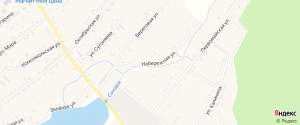 Набережная улица на карте села Тюбука с номерами домов