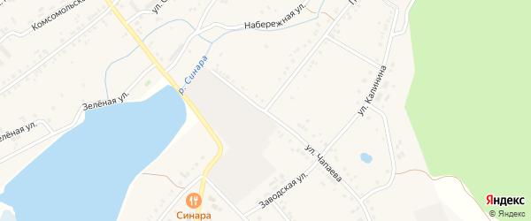 Улица Чапаева на карте села Тюбука с номерами домов
