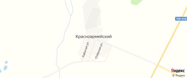 Карта Красноармейского поселка в Челябинской области с улицами и номерами домов