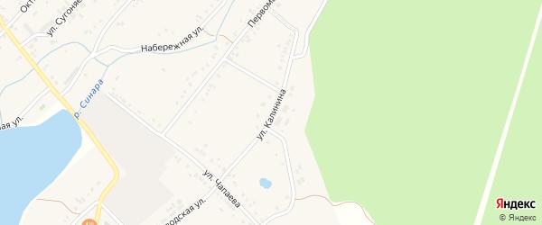 Улица Калинина на карте села Тюбука с номерами домов