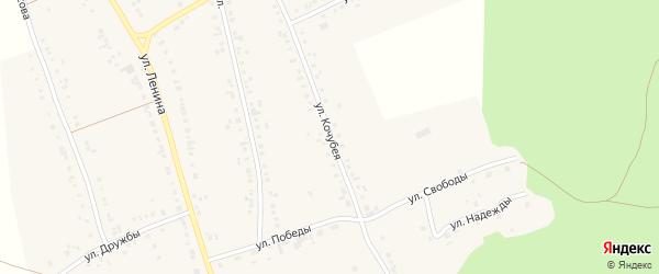 Улица Кочубея на карте села Тюбука с номерами домов