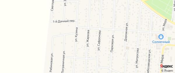 Улица Жаркова на карте села Варны с номерами домов