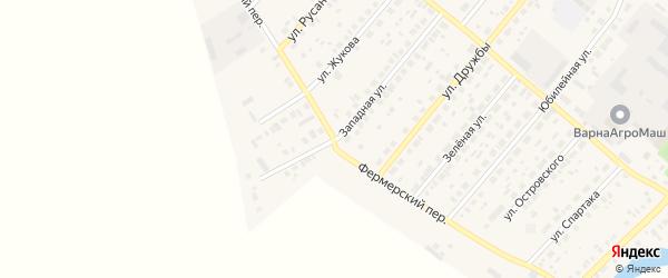 Фермерский переулок на карте села Варны с номерами домов