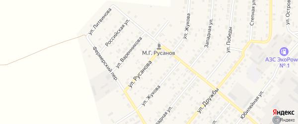 Улица Русанова на карте села Варны с номерами домов