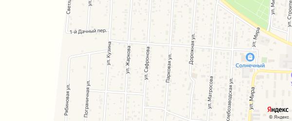 Улица Сафронова на карте села Варны с номерами домов