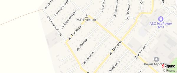 Улица Жукова на карте села Варны с номерами домов