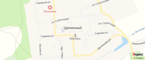 Квартальный переулок на карте Целинного поселка с номерами домов