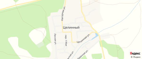 Карта Целинного поселка в Челябинской области с улицами и номерами домов