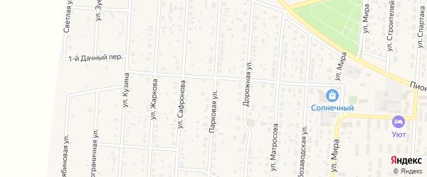 Парковая улица на карте села Варны с номерами домов