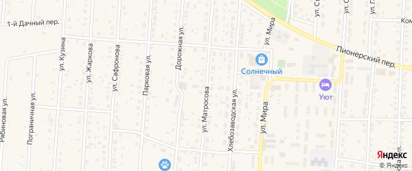 Улица Матросова на карте села Варны с номерами домов