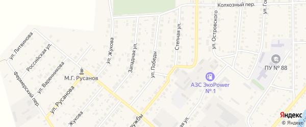 Улица 60 лет Победы на карте села Варны с номерами домов