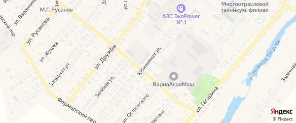 Юбилейная улица на карте Южноуральска с номерами домов