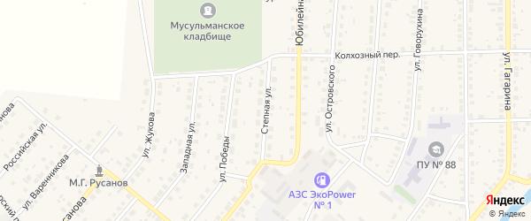 Степная улица на карте железнодорожной станции Саламата с номерами домов