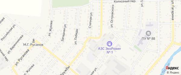 Юбилейная улица на карте села Варны с номерами домов