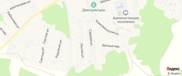 Садовая улица на карте Трубного поселка с номерами домов