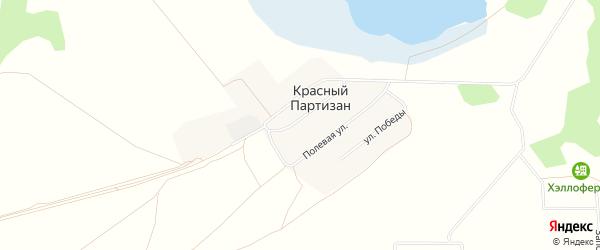 Карта поселка Красного Партизана в Челябинской области с улицами и номерами домов