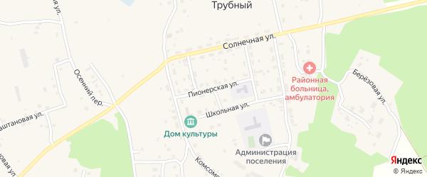 Пионерская улица на карте Трубного поселка с номерами домов