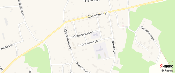 Вишневая улица на карте Трубного поселка с номерами домов