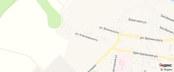 Улица Клечковского на карте поселка Метлино с номерами домов