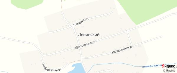 Центральная улица на карте Ленинского поселка с номерами домов