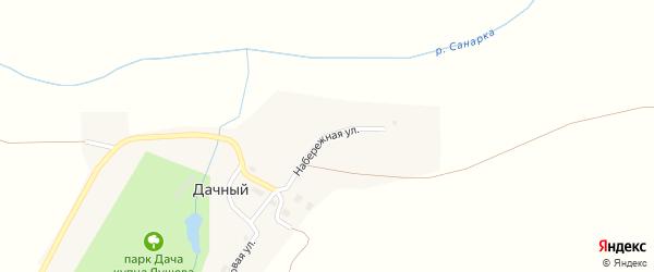 Набережная улица на карте Дачного поселка с номерами домов