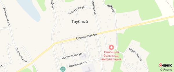 Солнечная улица на карте Трубного поселка с номерами домов