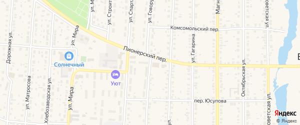 Улица Говорухина на карте села Варны с номерами домов